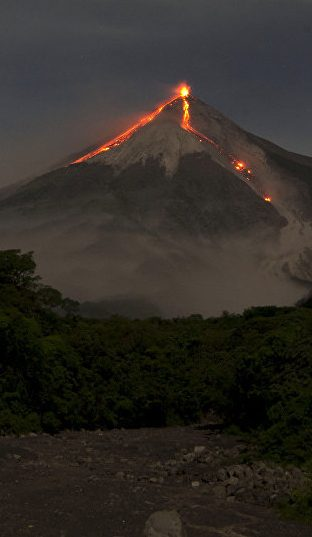 eruption volcanique guatemala - volcan de fuego
